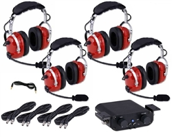 Four Place Off Road Intercom W 4 Over The Head Headsets